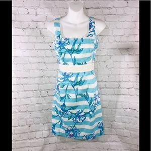Lilly Pulitzer Dress Size 0 beads white light blue
